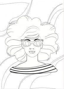 Desenho cabelo – Molde